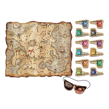 Pirate Treasure Map Party Game, 17-1/2