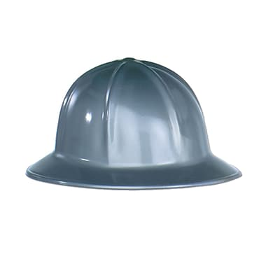 Plastic Construction Helmet, One Size Fits Most, Grey, 48/Pack