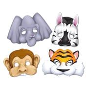"""Jungle Animal Masks, 9-1/2"""", 12/Pack"""