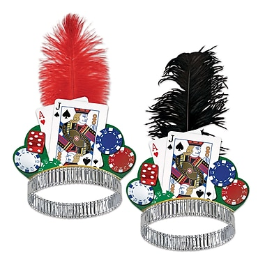 Casino Night Tiaras, One Size Fits Most, 50/Pack