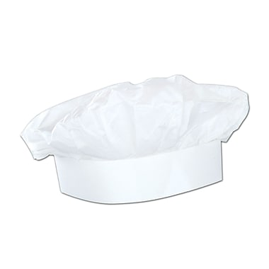 Paper Chef's Hat, One Size Fits Most, 6/Pack