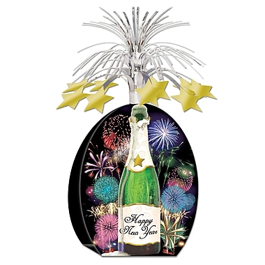 Happy New Year Champagne Bottle Centerpiece, 15