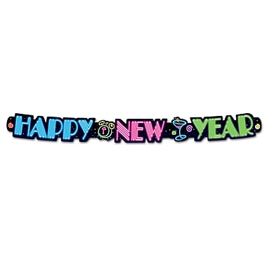 Neon Happy New Year Streamer, 3