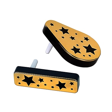 Plastic Metallic Noisemakers, Black & Gold, 20/Pack