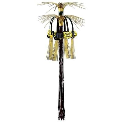 Beistle 3' New Year Cascade Hanging Column, Black/Gold, 4/Pack