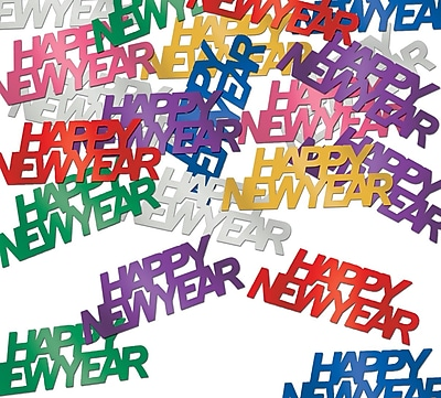 Beistle Happy New Year Fanci Confetti, Multicolor, 5/Pack