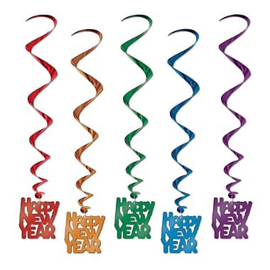 Tourbillons « Happy New Year », 33 po, 15/paquet