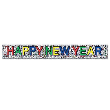 Metallic Happy New Year Fringe Banner, 8