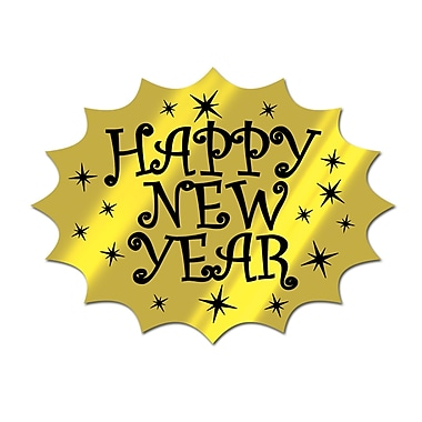 Foil Happy New Year Cutout, 13
