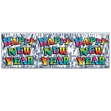 Metallic Happy New Year Fringe Banner, 14