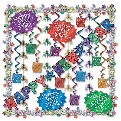 Beistle 23-Piece New Year Decorating Kit