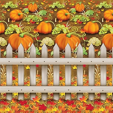 Beistle 4' x 30' Pumpkin Patch Backdrop
