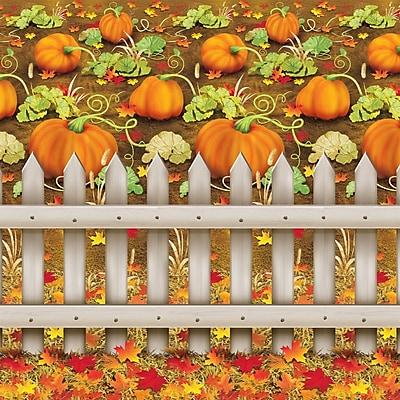 Beistle 4' x 30' Pumpkin Patch Backdrop
