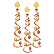 """Beistle 30"""" Fall Leaf Whirls, 9/Pack"""