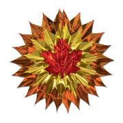"""Beistle 15"""" Fall Leaf Fan Burst, 3/Pack"""