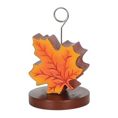 Fall Leaf Photo/Balloon Holder, Each Balloon Weight Is 6 Ounces, 3/Pack