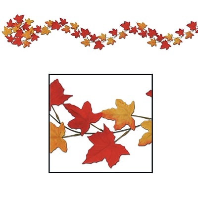 Beistle 6' Autumn Leaf Garland, 12/Pack