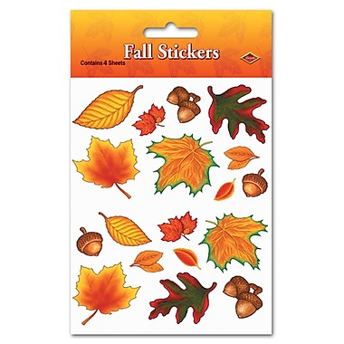 Fall Leaf Stickers, 4-3/4
