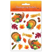 "Beistle 4 3/4"" x 7 1/2"" Thanksgiving Sticker, 28/Pack"