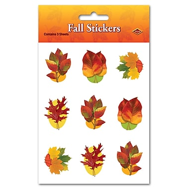 Autumn Leaf Stickers, 4-3/4