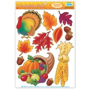 """Beistle 12"""" x 17"""" Thanksgiving Clings, 77/Pack"""