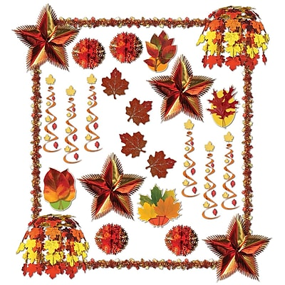 Beistle 28-Piece Fall Reflections Decorating Kit