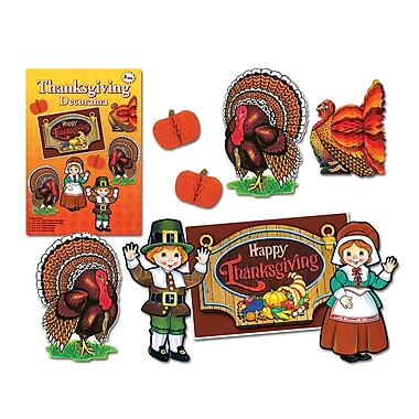 Thanksgiving Decorama, Assorted Decorations, 16/Pack