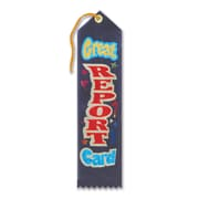 Beistle 2 inch x 8 inch Great Report Card Award Ribbon, Dark Blue, 9/Pack by