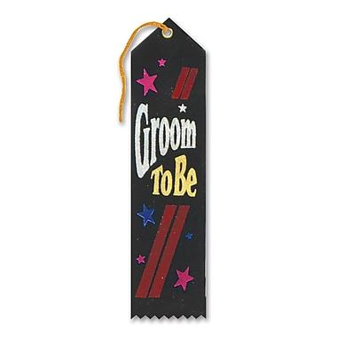 Ruban récompense « Groom To Be » 2 x 8 po, paquet de 9