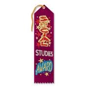 """Beistle 2"""" x 8"""" Social Studies Award Ribbon, Burgundy, 9/Pack"""