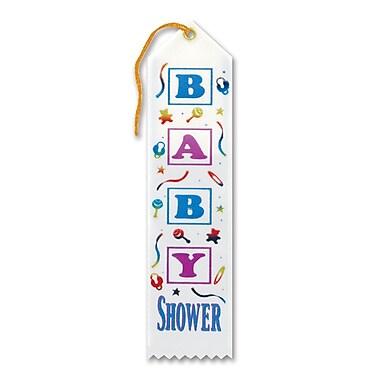 Ruban de distinction « Baby Shower », 2 x 8 po, paquet de 9