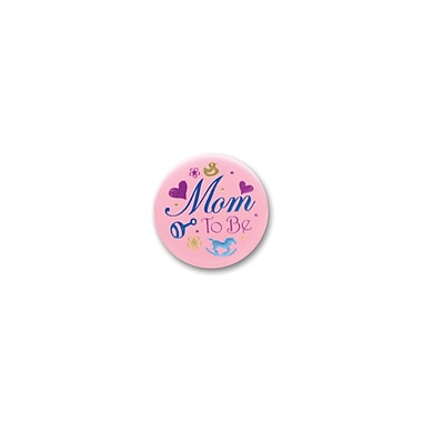 Macaron rose satiné « Mom to Be », 2 po, paquet de 6