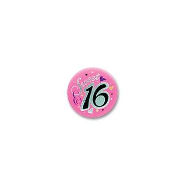 Sweet 16 Satin Button, 2