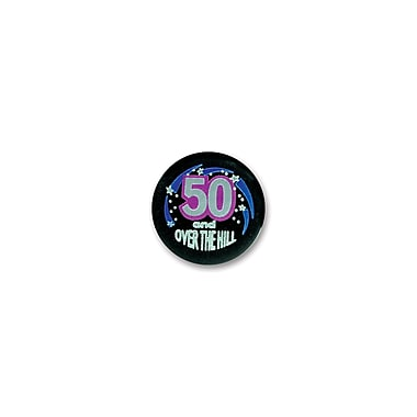 50 & Over-The-Hill Satin Button, 2