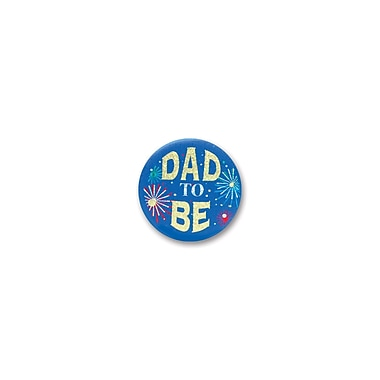 Macaron satiné « Dad to Be », 2 po, paquet de 6