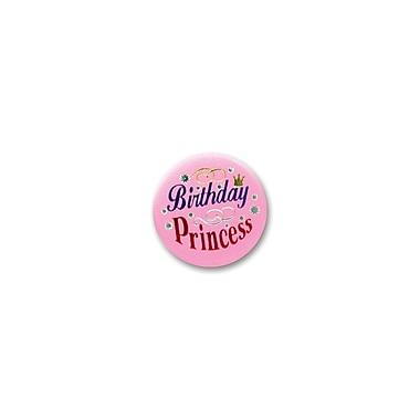 Macaron d'anniversaire de princesse en satin, 2 po, 7/paquet