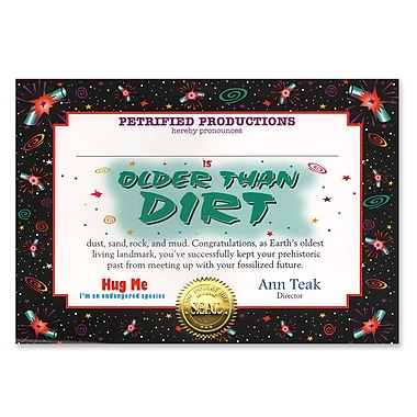 Older Than Dirt Certificate, 5