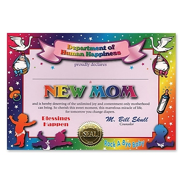 Beistle New Mom Certificate, 5