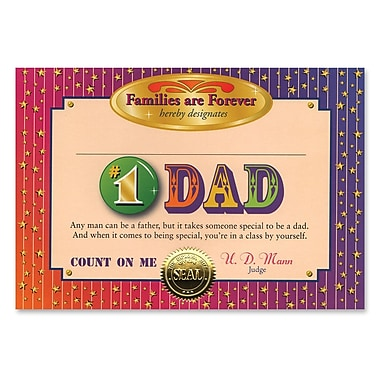 Beistle #1 Dad Certificate, 5