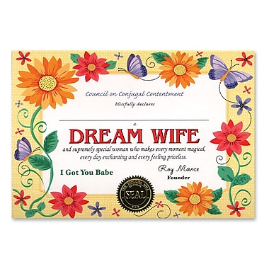 Beistle Dream Wife Certificate, 5