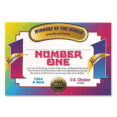 Beistle Number One Certificate, 5