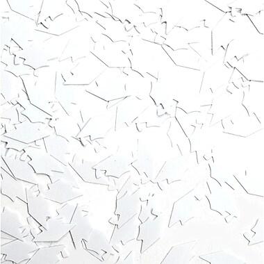 Grad Caps Confetti, White, 5/Pack