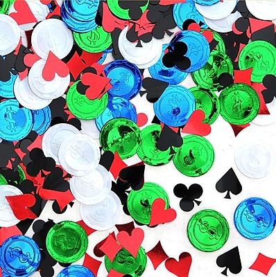 Beistle Poker Party Confetti, Multicolor, 5/Pack