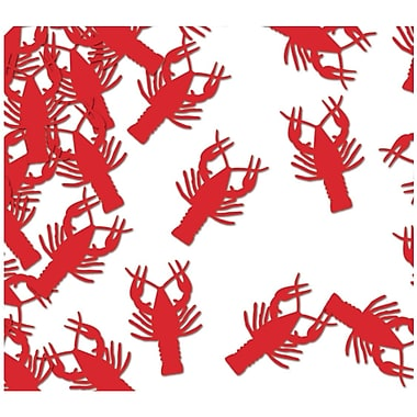 Beistle Crawfish Confetti, Red, 5/Pack