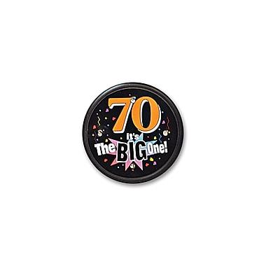 Macaron clignotant 70 « It's The Big One », 2 1/2 po, paquet de 2