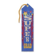 "Beistle 2"" x 8"" Super Grad Award Ribbon, 9/Pack"