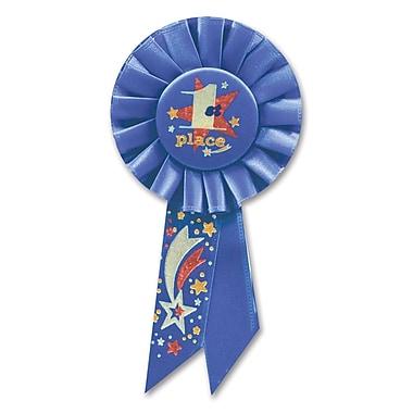 Rosette « 1st Place », 3 1/4 x 6 1/2 po, paquet de 3