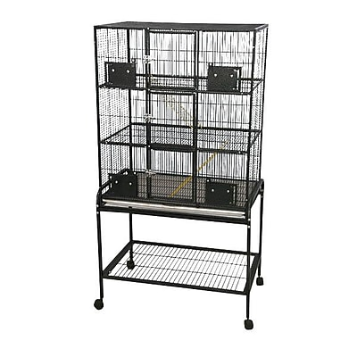 A&E Cage Co. 3 Level Small Animal Cage w/ Removable Base; Platinum