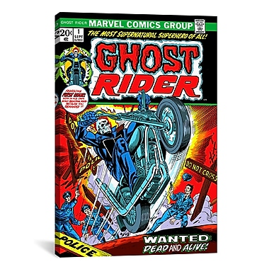 iCanvas Marvel Comics Ghost Rider Issue Cover Graphic Art on Canvas; 18'' H x 12'' W x 0.75'' D
