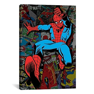 iCanvas Marvel Comics Spider-Man Cover Collage Graphic Art on Wrapped Canvas